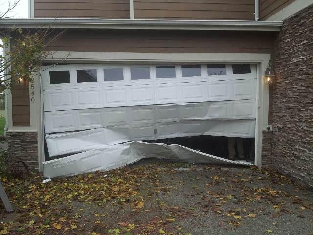 Garage Door is Damaged