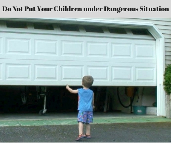 Garage Door Safety For Children, Kids
