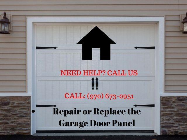 Repair or Replace the Garage Door Panel in Greeley