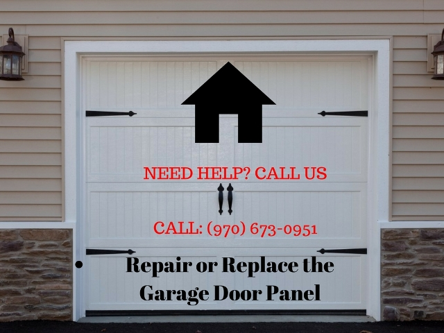 Repair or Replace the Garage Door Panel in Greeley