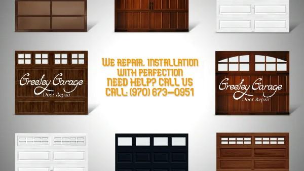 Custom Residential Garage Door in Greeley Co